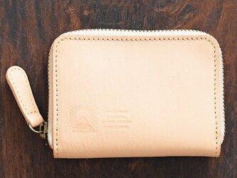 JAPAN LEATHERの馬革コインケース【ベージュ】 小さなお財布 名入れできますの画像