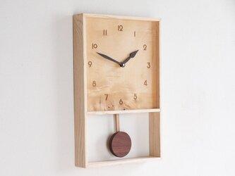 振り子時計 榎材1の画像