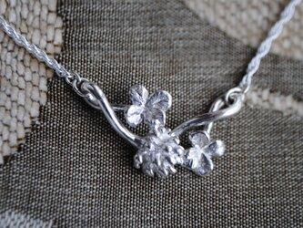 《受注制作》しろつめ草の花&四つ葉²のネックレスの画像