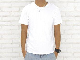 メンズビスコースアースTシャツ<ホワイト>Sサイズの画像