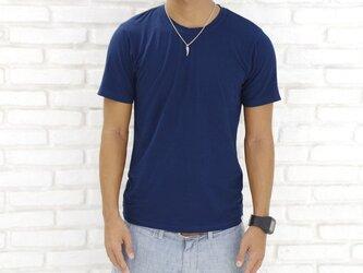 メンズビスコースアースTシャツ<ネイビー>Sサイズの画像