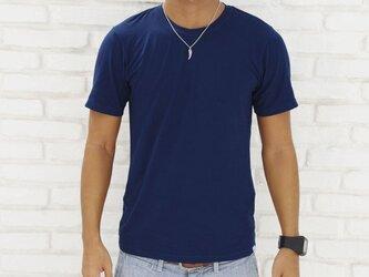メンズビスコースアースTシャツ<ネイビー>Mサイズの画像