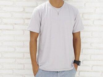 メンズビスコースアースTシャツ<グレー>Mサイズの画像