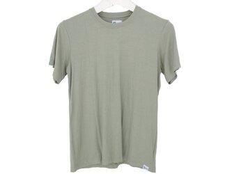 メンズビスコースアースTシャツ<カーキ>Lサイズの画像
