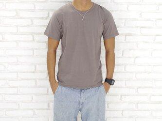 メンズビスコースアースTシャツ<ライトブラウン>Sサイズの画像