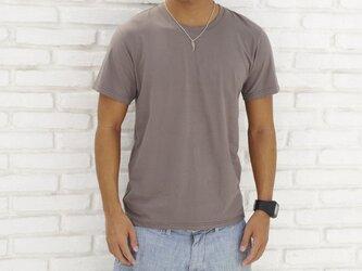 メンズビスコースアースTシャツ<ライトブラウン>Mサイズの画像