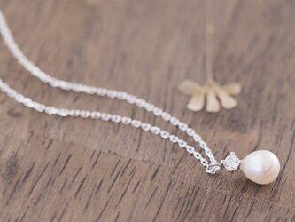 Dainty 真珠 ネックレス シルバー925の画像