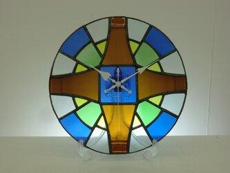 オーダーメイド 「醤油瓶のステンドグラス時計」の画像