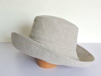 M.10 つば広帽子 麻ナチュラルの画像