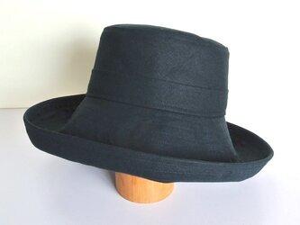 M.10 つば広帽子 紺の画像
