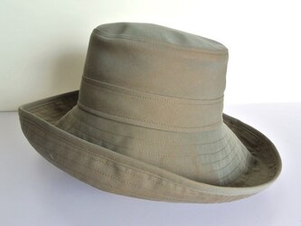 M.10 つば広帽子 オリーブの画像