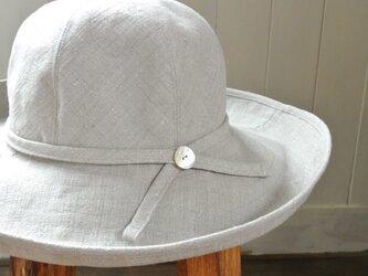 M.C1 丸い帽子 麻の画像