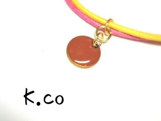 【bracelet】 Yellow × Pinkの画像