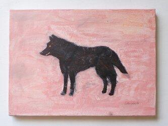 凛々しいオオカミ F4サイズ絵画の画像