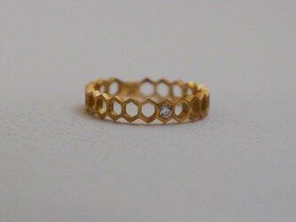 Honeycomb Eternity Ring K18の画像