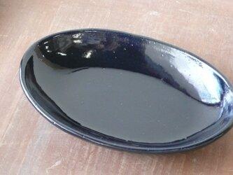瑠璃楕円鉢の画像