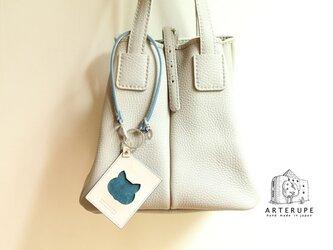 《再販》猫のパスケース・Gattina Pass ブルーの画像