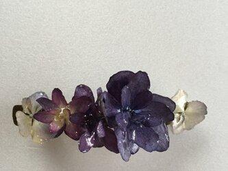 アジサイの花で作ったバレッタNo.1の画像