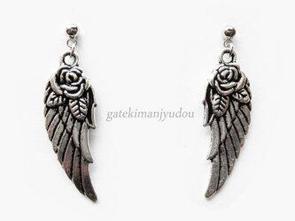 薔薇の翼◆チタンピアス【イヤリング変更可】の画像