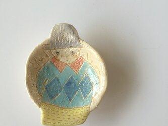 肖像画の豆皿(2)の画像