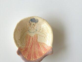 肖像画の豆皿(3)の画像