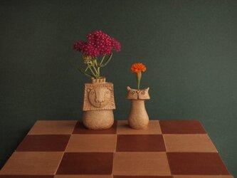 """SAVANNA   Chess vase      サバンナ チェスベース """"キングとポーン""""の画像"""