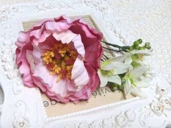 花かんざし(Uピン) ピオニー&オオ二ソガラム☆*:.ピンクの画像