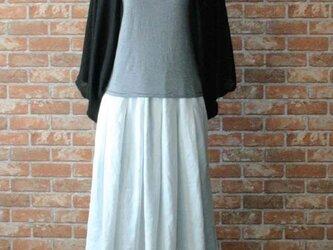 ヨーロッパリネン100% タックギャザースカート ホワイトの画像