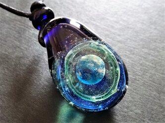 《地球》 ペンダント とんぼ玉  宇宙 ガラス 銀河 星の画像
