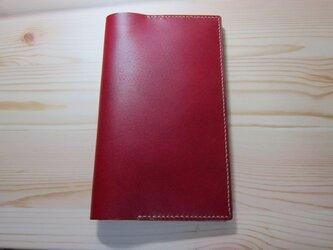 レザー手帳カバー(高橋書店手帳判)赤の画像