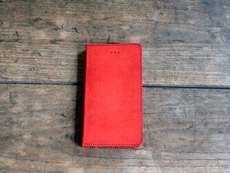 iphone 6.6S jaket レッド×キャメルの画像