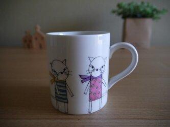ねこ達のマグカップの画像