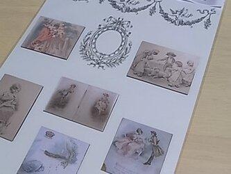 ビクトリアンマグネット(大)B アンティーク風の画像