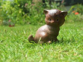 備前焼の猫の画像