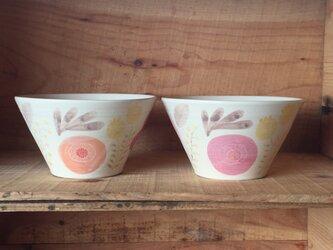 bowl ーred&orangeーの画像
