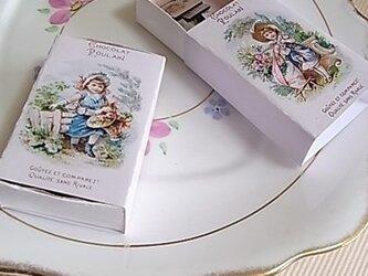 ビクトリアンマグネット(小) ブルーのマッチ箱入りの画像