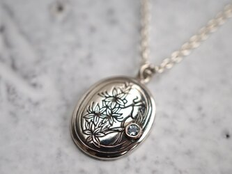 [誕生石] Silver initial pendantの画像