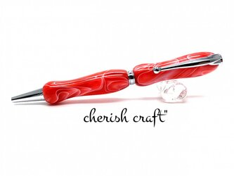 手作りボールペン♪Stylishチェリーレッド♪【送料無料】の画像