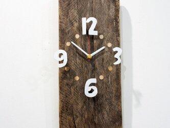 栗古材の掛け時計の画像