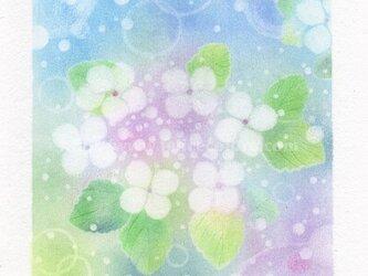 Mariko Hirai シャボン玉アートパステル原画*【雨上がりのキラッと感♪】の画像
