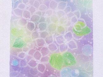 Mariko Hirai シャボン玉アートパステル原画*【紫陽花のころ】の画像