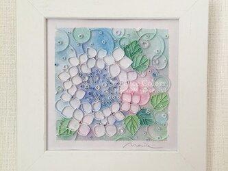 Mariko Hirai  アートパステル*Mariko Style  原画 【紫陽花*雨上がりのキラキラ】の画像