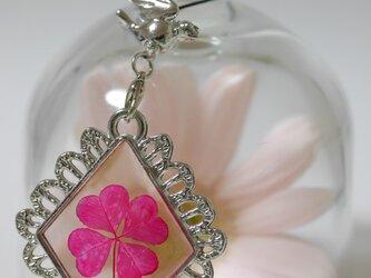 クリアクローバー®︎ストラップ【レース】ピンクの画像