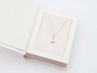 14KGF はぁとあこや真珠ネックレスの画像