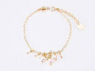 14KGF ジェミーブレスレット(淡水真珠)の画像