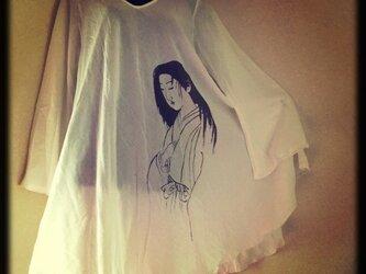 【送料込】幽霊画Aラインワンピの画像