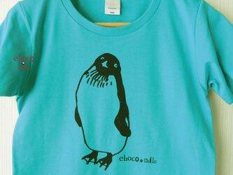 無敵ペンギン Tシャツ (ミントブルー)の画像