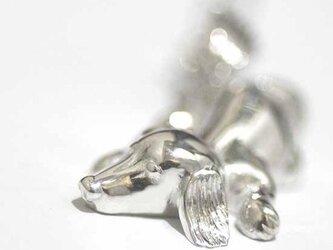 すねちゃったダックスフントのペンダント【送料無料】犬 わんこ シルバー 銀の画像