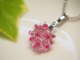 露の玉ネックレス ピンクの画像