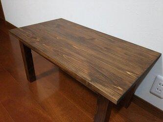 国産ひのき材の手触りのいいローテーブルの画像